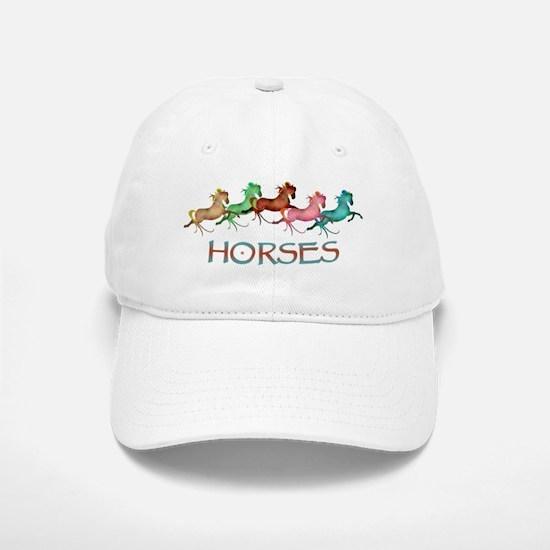 many leaping horses Baseball Baseball Cap