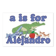 A is for Alejandro Postcards (Package of 8)
