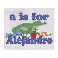 A is for Alejandro Throw Blanket