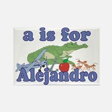 A is for Alejandro Rectangle Magnet