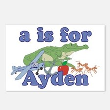A is for Ayden Postcards (Package of 8)