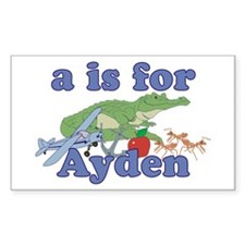 A is for Ayden Decal