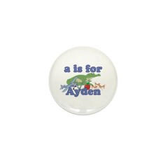 A is for Ayden Mini Button (10 pack)