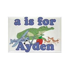 A is for Ayden Rectangle Magnet