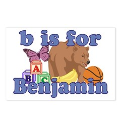 B is for Benjamin Postcards (Package of 8)