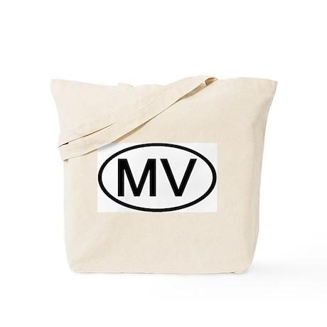 MV - Initial Oval Tote Bag