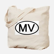 MV - Initial Oval Tote Bag