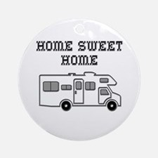 Home Sweet Home Mini Motorhome Ornament (Round)