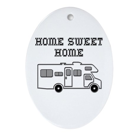 Home Sweet Home Mini Motorhome Ornament (Oval)