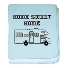 Home Sweet Home Mini Motorhome baby blanket