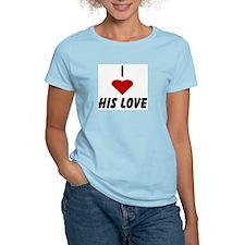 I Heart His Love Women's Pink T-Shirt