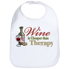 Wine Is Cheaper Than Therapy Bib