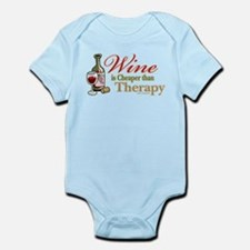 Wine Is Cheaper Than Therapy Infant Bodysuit