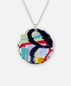 ABSTRACT PAINTING Necklace