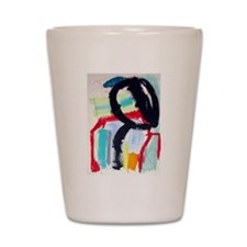 ABSTRACT PAINTING Shot Glass