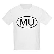 MU - Initial Oval Kids T-Shirt