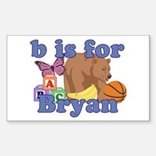 B is for Bryan Decal