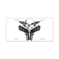 1911 Skull Aluminum License Plate