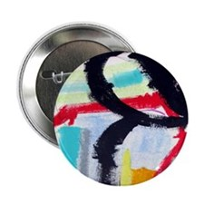 """ABSTRACT PAINTING 2.25"""" Button"""