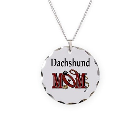 Dachshund Mom Gifts Necklace Circle Charm