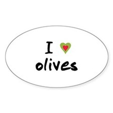 I Love Olives Decal