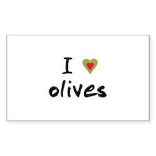 I Love Olives Decal