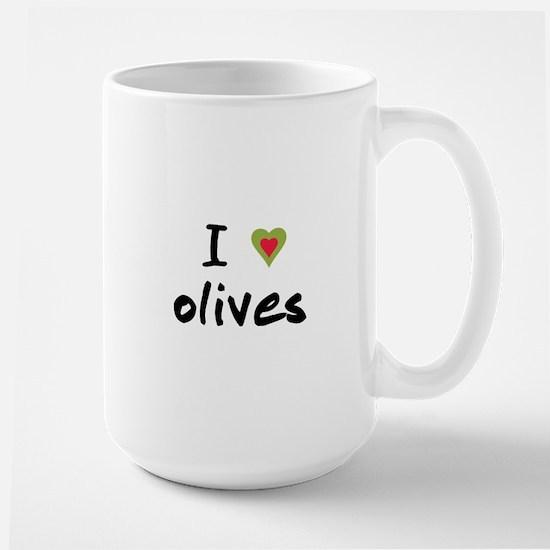 I Love Olives Large Mug