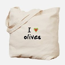 I Love Olives Tote Bag