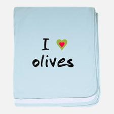 I Love Olives baby blanket
