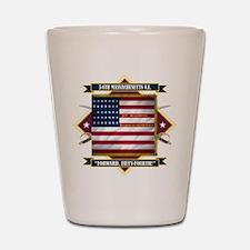 54th Massachusetts Shot Glass