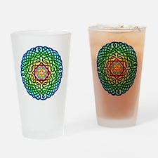 Rainbow Celtic Knot Pint Glass