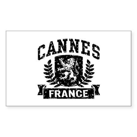 Cannes France Sticker (Rectangle)