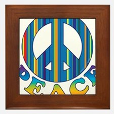 Cool Peace Framed Tile