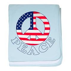 Patriotic Peace baby blanket