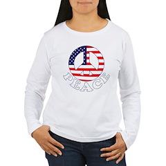 Patriotic Peace Women's Long Sleeve T-Shirt