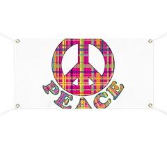 Plaid Peace Banner