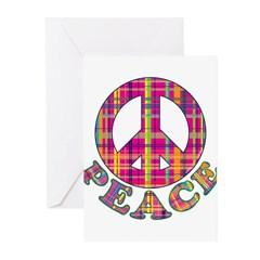 Plaid Peace Greeting Cards (Pk of 10)