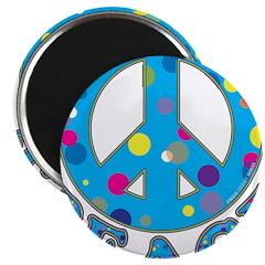 Polka Dot Peace Magnet