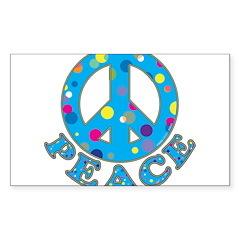 Polka Dot Peace Decal