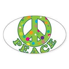 Polka Dots Peace Decal