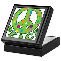 Polka Dots Peace Keepsake Box