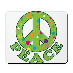 Polka Dots Peace Mousepad