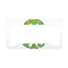 Polka Dots Peace License Plate Holder