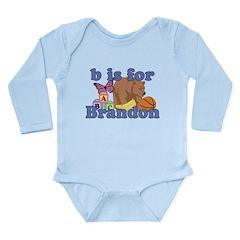 B is for Brandon Long Sleeve Infant Bodysuit