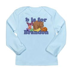 B is for Brandon Long Sleeve Infant T-Shirt