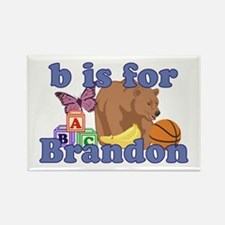B is for Brandon Rectangle Magnet