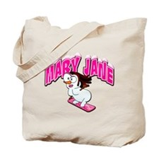 Mary Jane Snowgirl Tote Bag