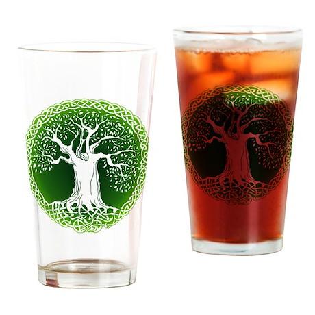 Green2 Celtic Tree Drinking Glass