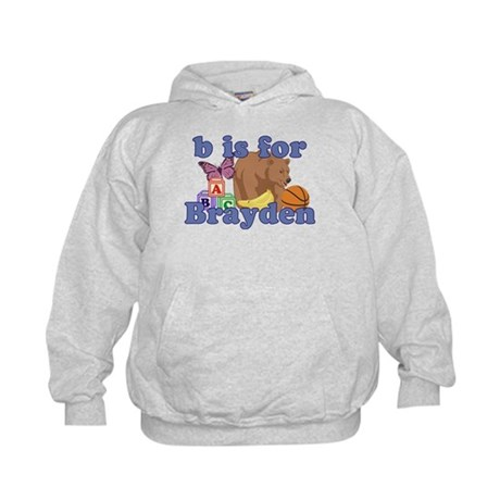 B is for Brayden Kids Hoodie