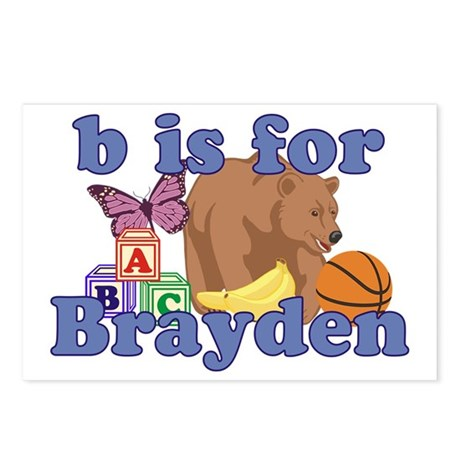 B is for Brayden Postcards (Package of 8)